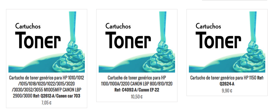 Cartuchos de toner HP alternativos en Santander